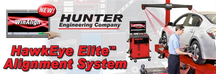 picture of hunter engineering hawkeye elite alignment system
